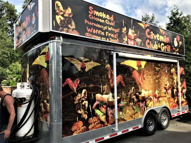 Caveman Club and Grill full vehicle wrap