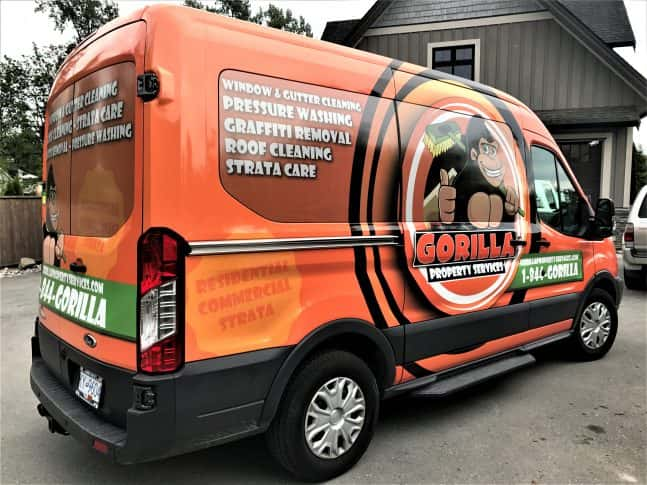 Gorilla Property Services full vehicle wrap