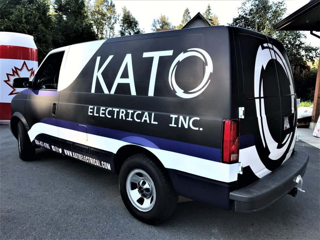 Kato Electrical full van wrap