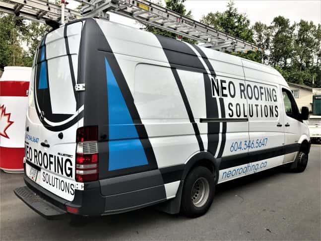Neo Roofing Solutions full van wrap
