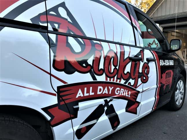 Ricky's All Day Grill full vehicle wrap