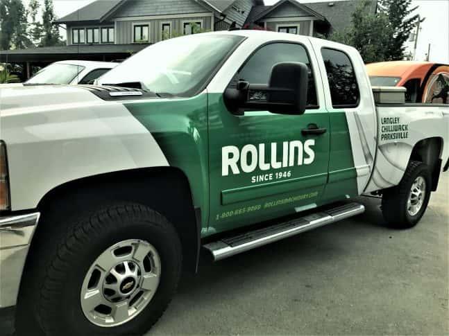 Rollins partial truck wrap