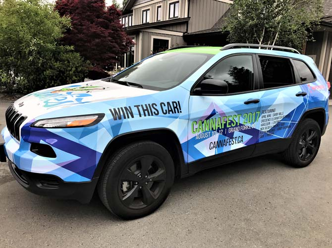 Vinyl vehicle wraps for tradeshows from Wrap Guys