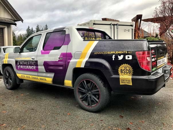 Athletic Alliance full truck wrap