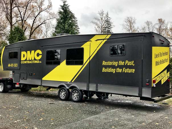 DMC Contracting full trailer wrap