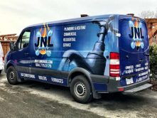 JNL Plumbing & Heating full vehicle wrap
