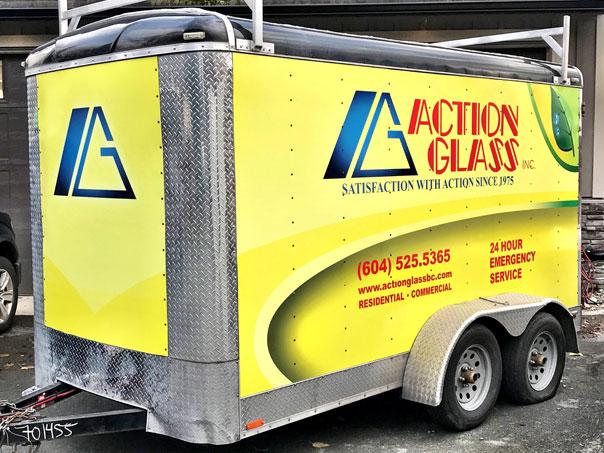 Action Glass full trailer wrap