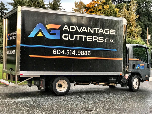 Advantage Gutters full truck wrap