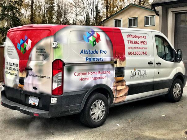 Altitude Pro Painters full van wrap