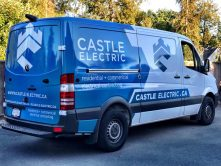 Castle Electric van wrap