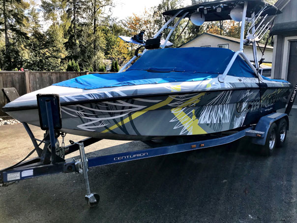 Centurion boat wrap