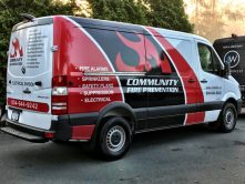 Community Fire Prevention full vehicle wrap