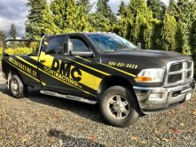 DMC Contracting full truck wrap