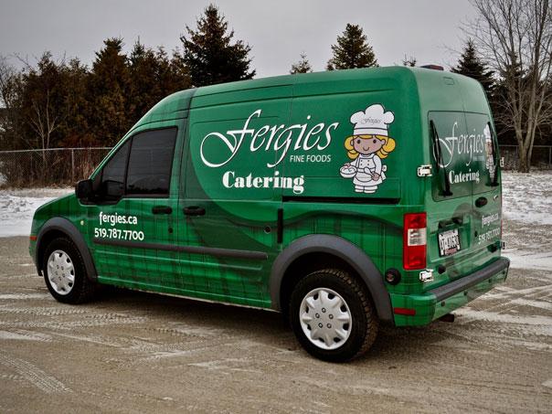 Fergies Fine Foods full vehicle wrap