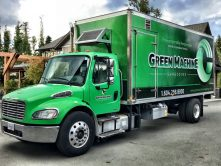 Green Machine full truck wrap