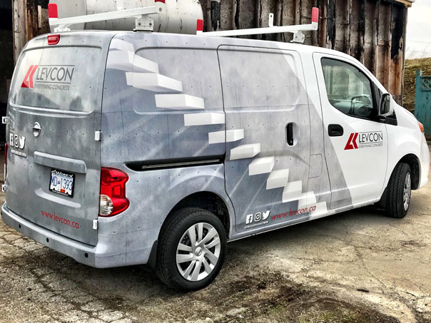 Levcon full van wrap
