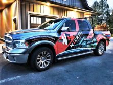 Nickel Contracting full truck wrap