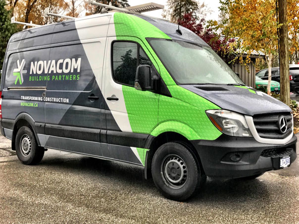 Novacom full van wrap