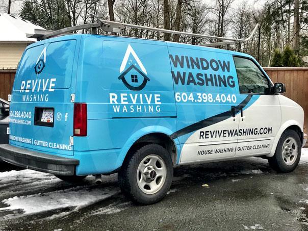 Revive Washing van wrap