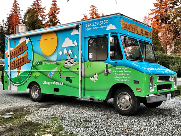 Rolling Cashew food truck wrap