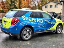 Snore MD SUV wrap