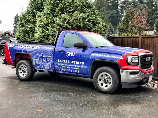 SNU Installations full truck wrap