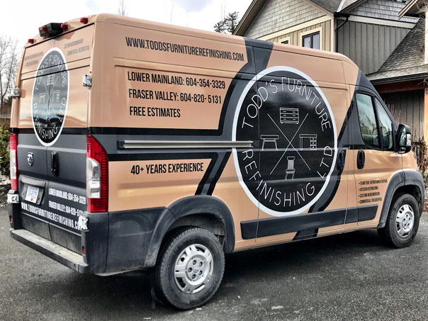 Todd's Furniture Refinishing Ltd. full vehicle wrap