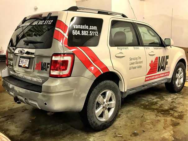 Vancouver Axle & Frame Limited full vehicle wrap