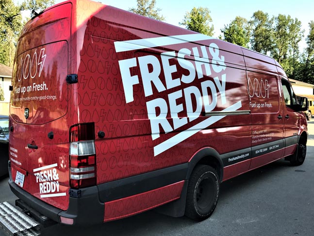Fresh & Reddy partial van wrap
