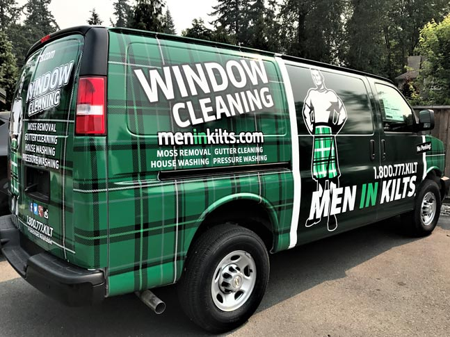 Men in Kilts full vehicle wrap