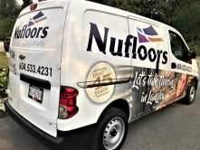 Nufloors full vinyl van wrap