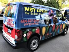 Party Express full vehicle wrap