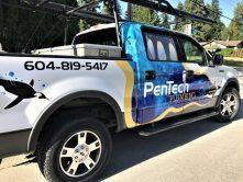 PenTech Plumbing partial truck wrap