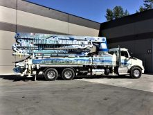 White Water partial truck wrap