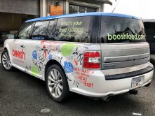 Boosh Food partial vehicle wrap