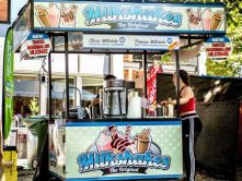Milkshakes food cart wrap
