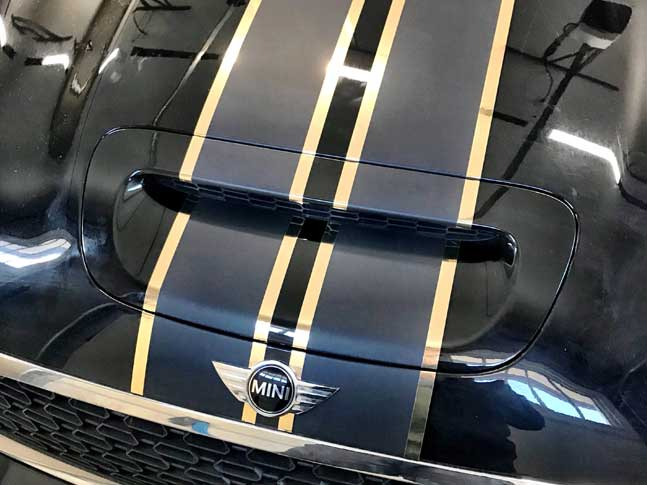 Mini racing stripes from Wrap Guys