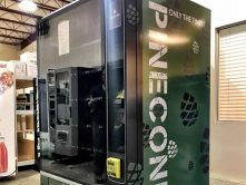 Pinecone vending machine wrap