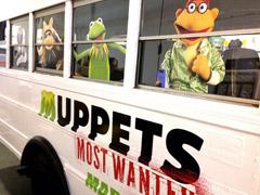muppets vinyl bus wrap