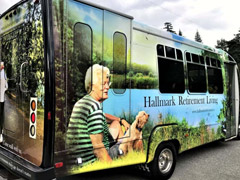 Retirement home bus wrap