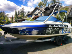 vinyl boat wrap from Wrap Guys