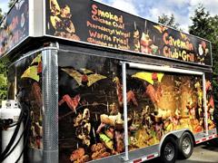 caveman grill food truck wrap
