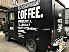 cold brew coffee food truck wrap