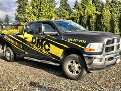 construction contractor vinyl truck wrap