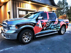 construction truck vinyl wrap