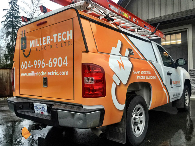 electrical truck vinyl wrap
