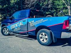 essential cycles work truck wrap