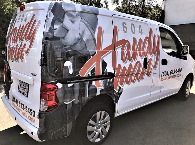 handyman vinyl van wrap
