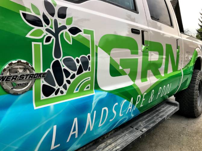 landscaper work truck wrap