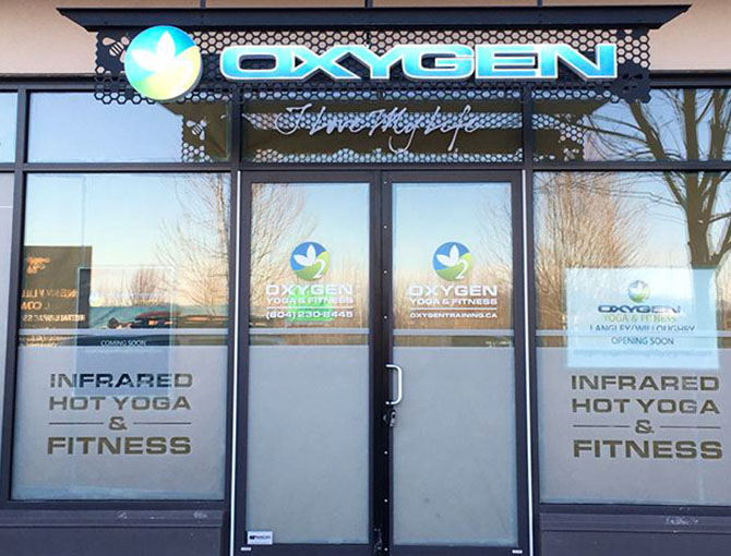 oxygen yoga custom window graphics